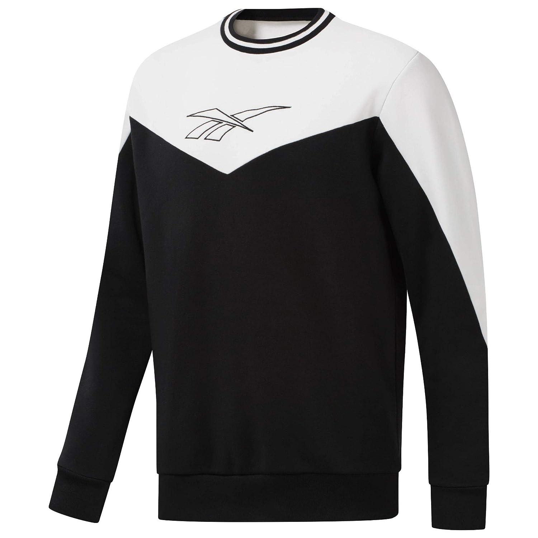 Reebok Lf Crew - schwarz Weiß - Sweatshirts-Herren