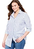 Women's Plus Size The Perfect Bigshirt With 3/4 Sleeves