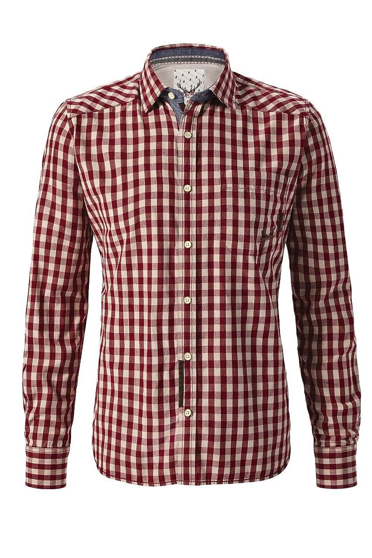 Stockerpoint - Herren Trachten Hemd in Blau oder Rot kariert, Tom