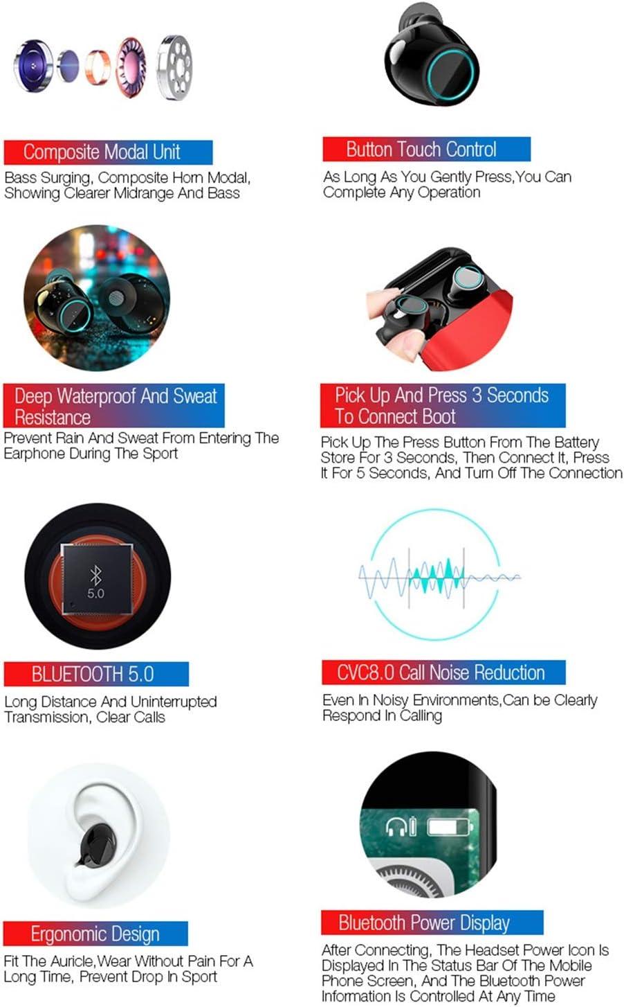 Sport Ear Hook Headphone for Mobile Phone Bjzxz Bluetooth Wireless ...