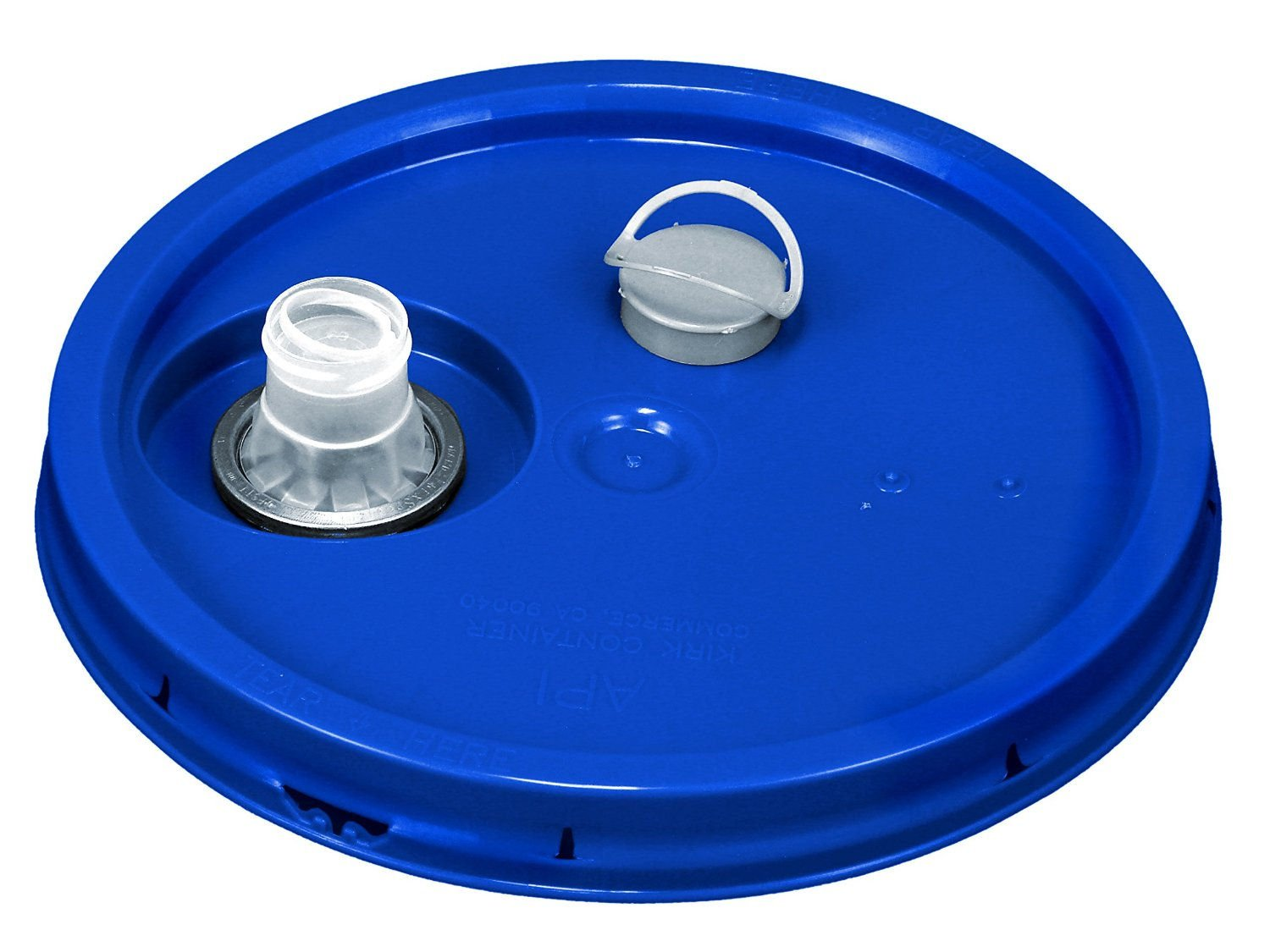 Snap on Lid w/ Gasket & Spout - for 3.5, 4.25, 5, 6, & 7 gallon Buckets