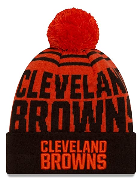 sports shoes ad46f a1e54 Image Unavailable. Image not available for. Color  Cleveland Browns New Era  NFL  quot Logo Whiz 2 quot  Cuffed Knit Hat ...