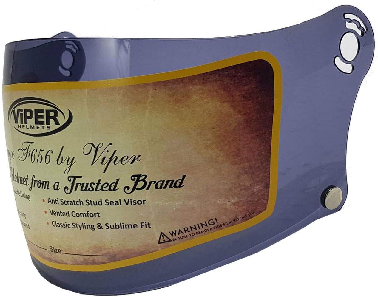 VIPER F656 REPLACEMENT VISOR ERSATZ-VISIER VOLLES GESICHT HELM INTEGRAL ZUS/ÄTZLICHE VISIERE RAUCH VISIER MIT KNOPF