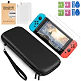 Nintendo Switch Carrying Cases + 2PCS Nintendo Switch Tempered Glass Screen Protector by VanFit