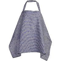 Chinatera Adjustable Nursing Cover Baby Breastfeeding Scarf Poncho Cotton Blanket Shawl (Stripe)