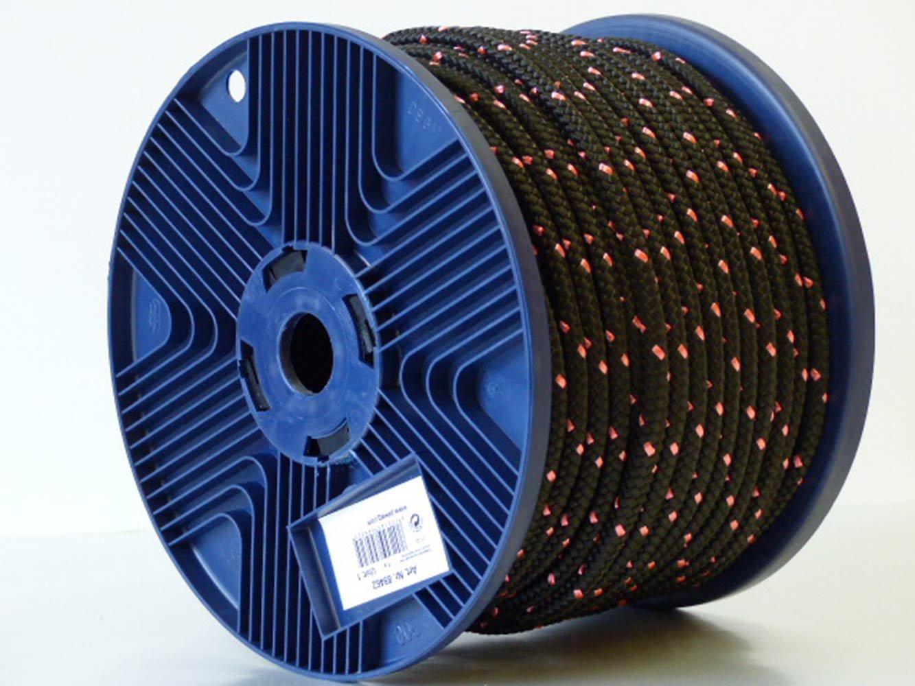pewag 89462 Polyesterseil hochfest Geflochten, 8 mm schwarz/pink
