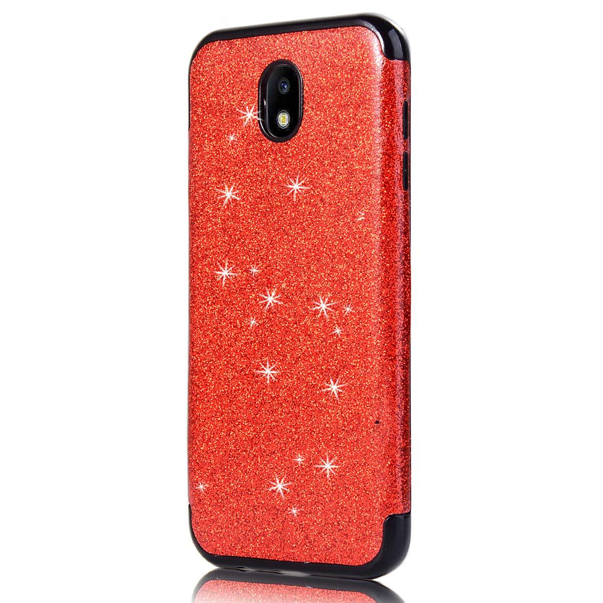 Felfy Okssud Coque Samsung Galaxy J7 J730, Galaxy J7 2017 Coque Luxe Glitter Paillette Ultra Mince Lé ger Silicone TPU Soft Gel Souple Cover Etui de Té lé phone Coquille de Protection Shockproof É tui DYY2018002244#05