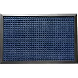 "Rubber-Cal 03-201-ZWBL ""Nottingham"" Carpet Entrance Front Doormat, 3' x 5', Blue"