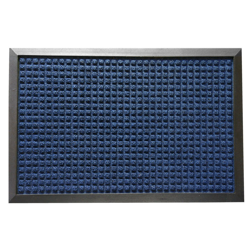 Rubber-Cal 03-202-ZWBL ''Nottingham'' Carpet Runner Floor Mat, 4' x 6', Blue by Rubber-Cal