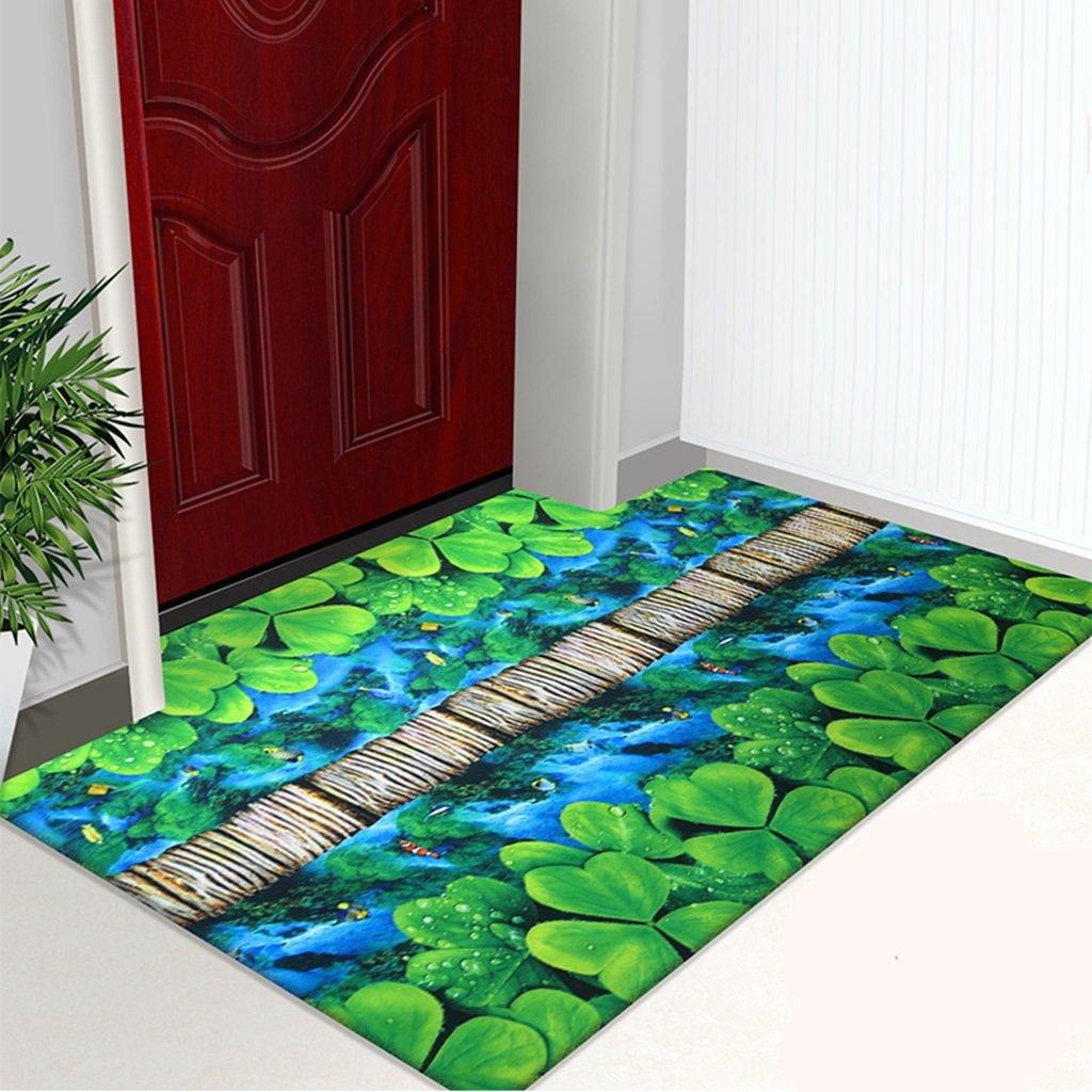 3Dカラー印刷カーペットカーペットの家は非常に薄いドアカーペットノンスリップドアマットホールフットパッドホームリビングルームのベッドルームキッチンをカットすることができます ( 色 : #1 , サイズ さいず : 120*300CM )   B06XZPLK31