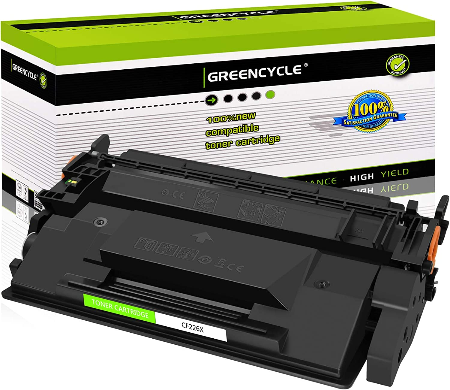 GREENCYCLE 9000 Pages per Toner Cartridge Replacement Compatible for HP 26X CF226X Used in Laserjet Pro MFP M402n M402dn M402dne MFP M402dw MFP M426fdw MFP M426dw MFP M426fdn Black, 1-Pack