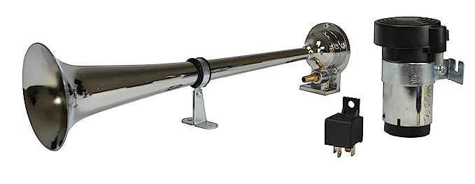 Amazon.com: HELLA 013410001 Chrome 12V Air 1-Trumpet Horn Kit (BL): Automotive