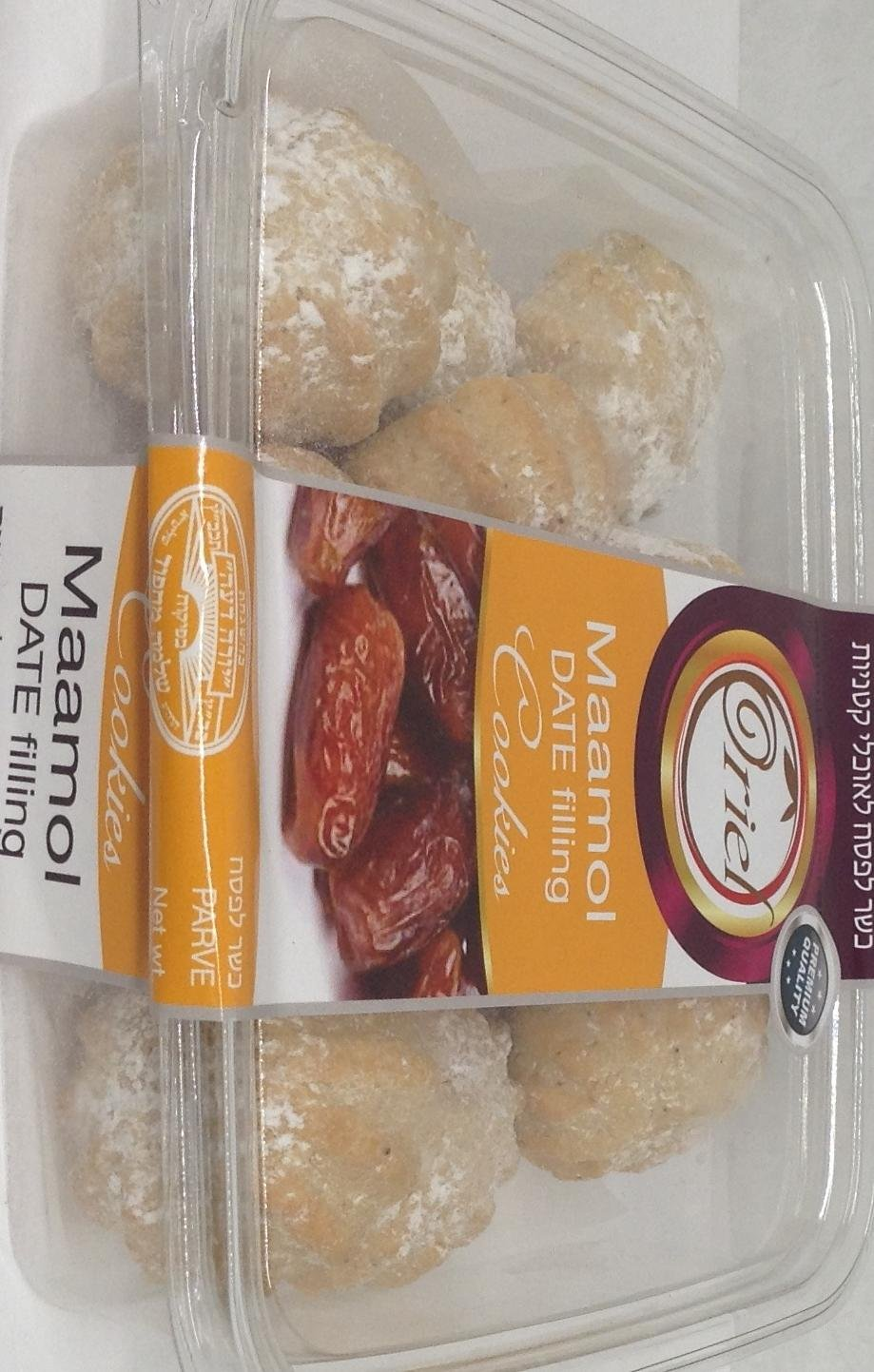 Oriel Maamol Date Filling Cookies Koshe For Passover 10.5 Oz. Pk Of 3.
