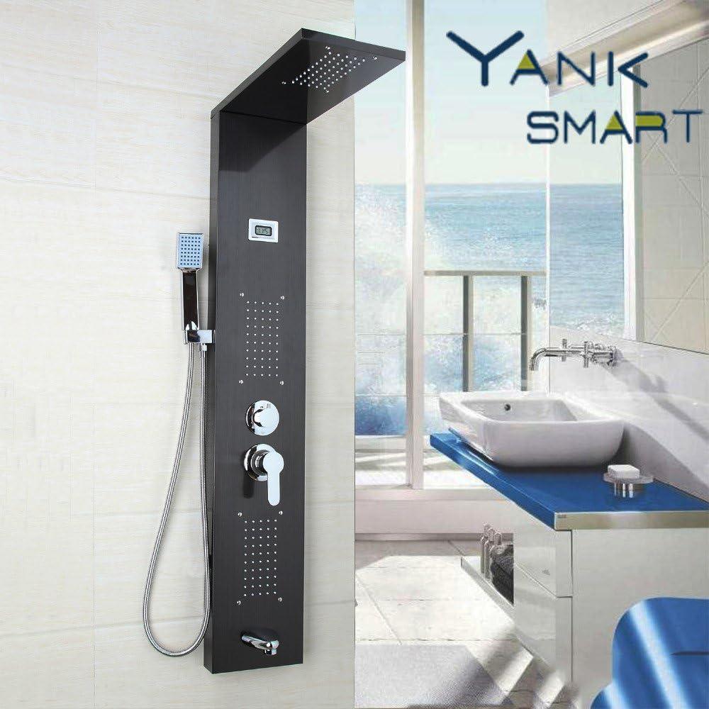 Luxurious shower Columna de ducha con chorros de masaje de latón ...