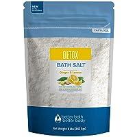 Detox Bath Salt 128 Ounces Epsom Salt with Natural Ginger and Lemon Essential Oils...