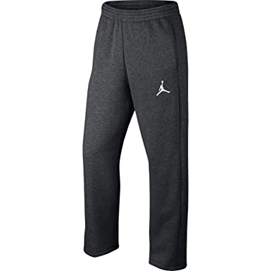 2bd9436a3915 Jordan Flight Fleece Men s Open Hem Pants Grey Heather White 823073-071  (Size
