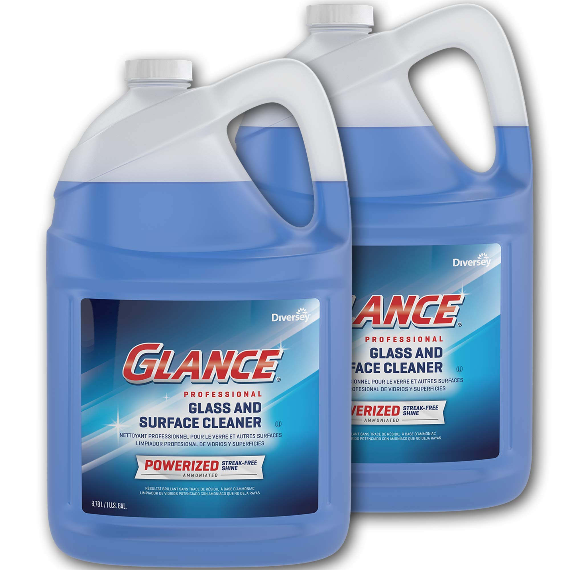 Diversey Glance Powerized Professional Glass & Surface Cleaner, 1 Gallon (2 Pack)