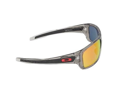88acb6df4b Amazon.com  Oakley Mens Turbine Active Sunglasses One Size Grey Ink Ruby  Iridium Polarized  Oakley  Clothing