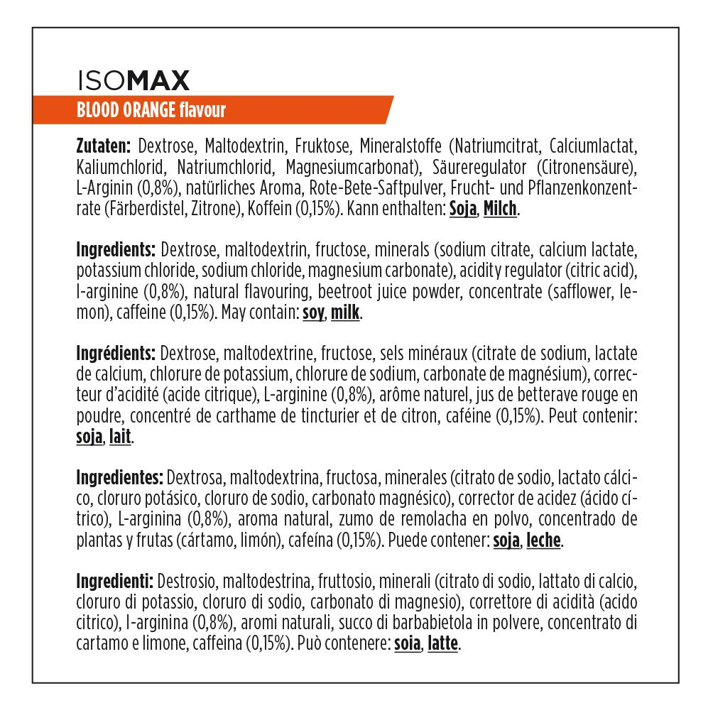 Amazon.com : POWERBAR ISOMAX High Performance Sports Drink 1.32KG, Red Orange : Sports Nutritional Supplements : Grocery & Gourmet Food