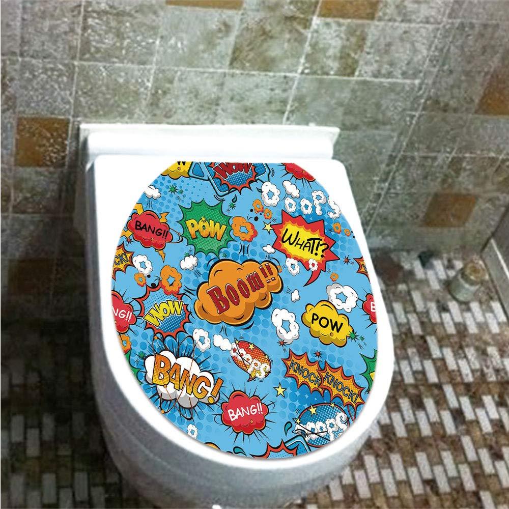 Amazon Com Toilet Sticker 3d Print Design Superhero Comics