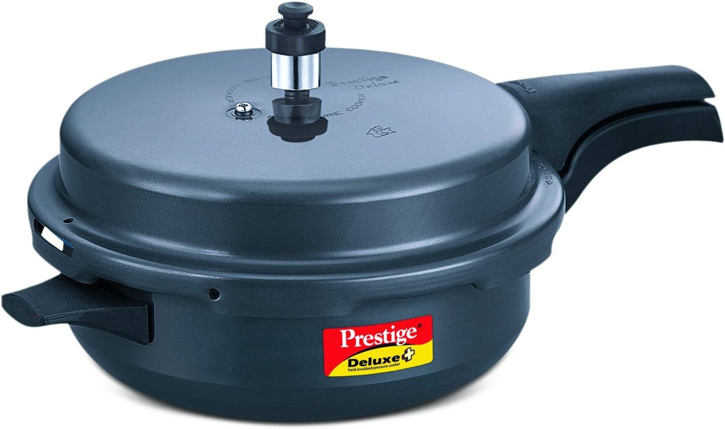 TTK Prestige Deluxe Plus Pressure Cooker, Senior, Dark Grey