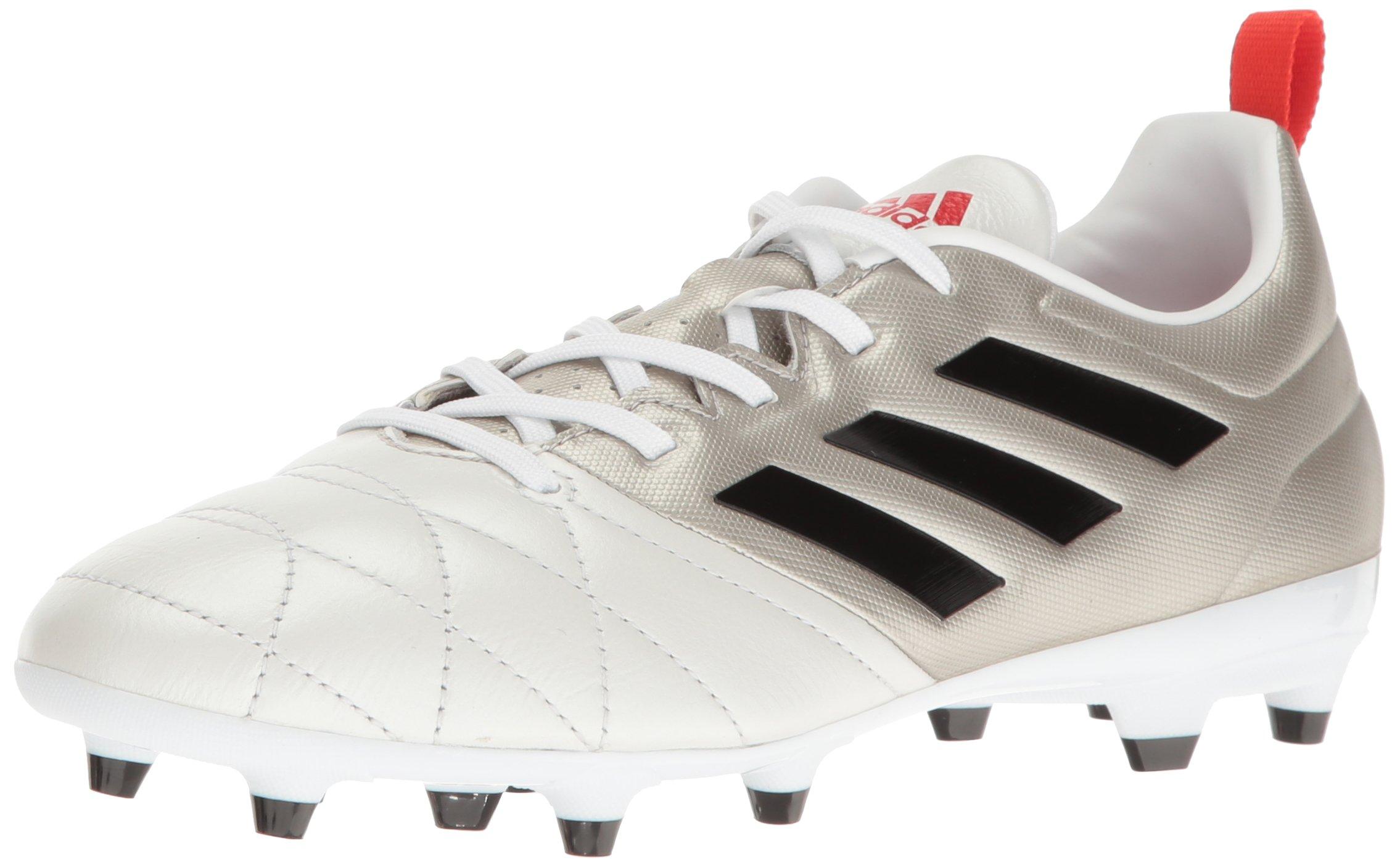 adidas Women's Ace 17.3 Fg w Soccer Shoe, Platino Black/Core Red S, 8.5 M US