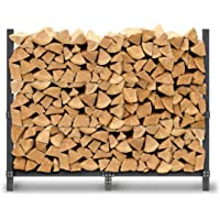Pilgrim Home and Hearth Pro 60″ Rack Outdoor Firewood Log Holder with Cover, Durable Black Powder Coat