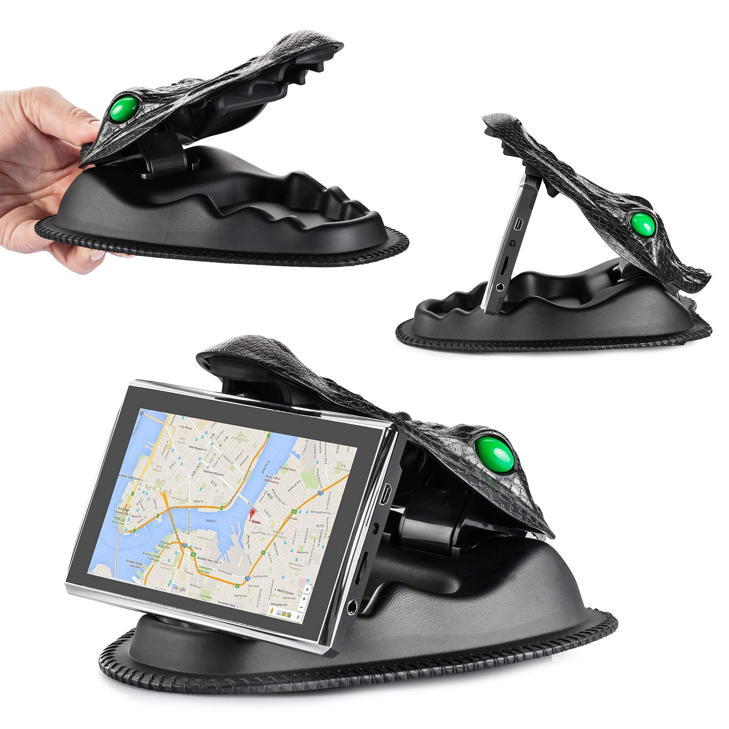 HapGo GPS Vehicle Mount,GPS Holder for Universal Smartphone Nonslip Dashboard for iphone6 /7/8 Series/X/Samsung S8/Note8 GPS Mount for Garmin, Nuvi, Tomtom, Via GO, Other Smartphones and 4-7inch GPS