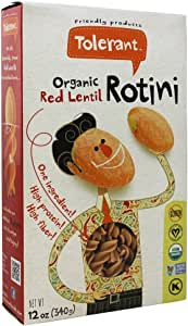Tolerant Food Organic Red Lentil Rotini -- 12 oz