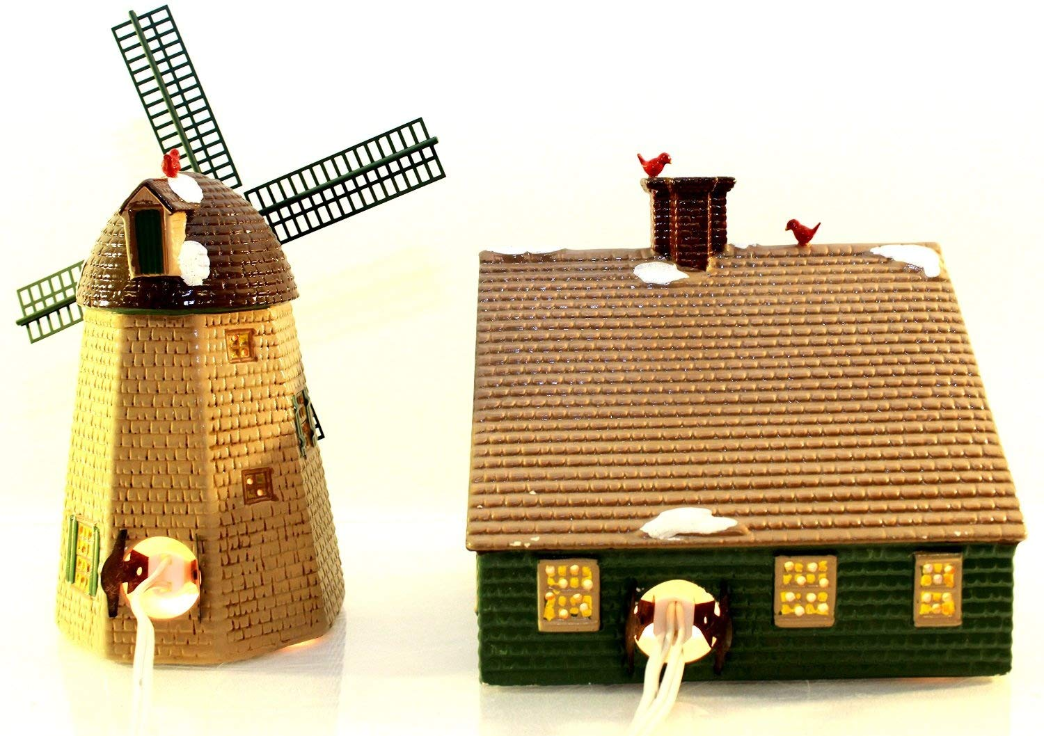 Department 56 The Original Snow Village Home Sweet Home House & Windmill #51268 by Department 56 (Image #2)