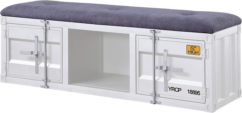 ACME Cargo Bench (Storage) - - Gray Fabric & White
