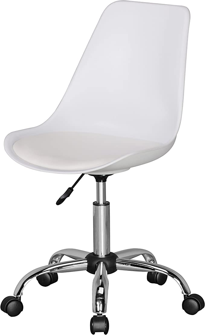 Amstyle Korsika, Drehstuhl mit Kunstleder Sitzfläche, Design Drehsessel Wartezimmerstuhl ist höhenverstellbar, Schreibtischstuhl mit Rückenlehne,