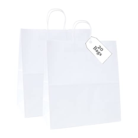 Amazon.com: Increíble empaque: bolsas de papel kraft de 18.0 ...