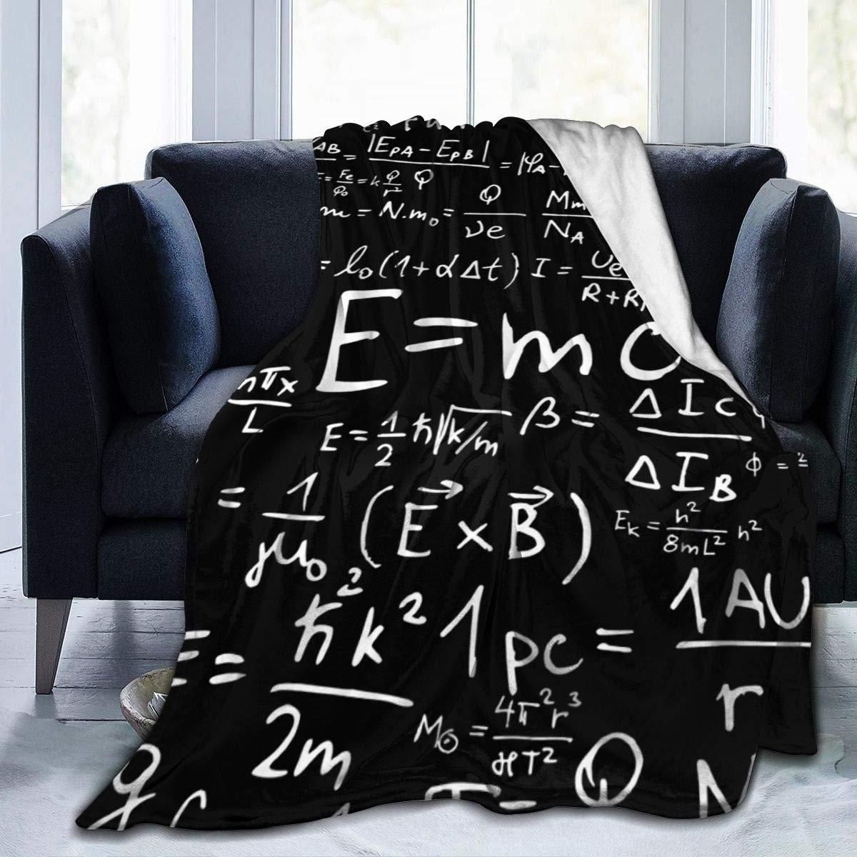 surce Formule Mathematics And Physics 1 Coperta da tiro 50x40 Pollici Super Soft Fuzzy Cozy Warm Fluffy Coperta in Peluche per Divano Letto Sedia Soggiorno Autunno Inverno Primavera