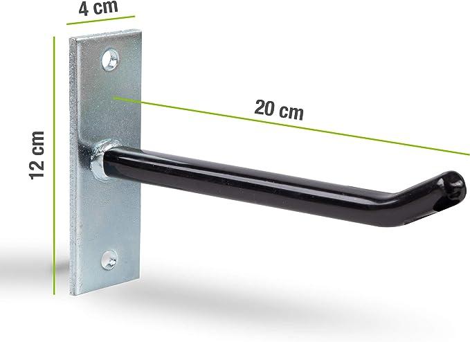 galvanizados, incluye 4 ganchos de acero, 8 tornillos y tacos, muy estables Juego de soportes para llantas GAH-Alberts 801960
