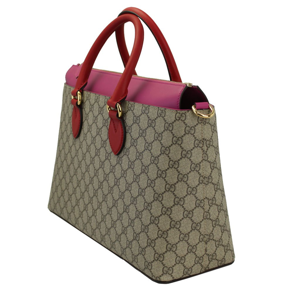 d94395505d76f9 Amazon.com: Gucci Gg Supreme Beige & Pink Tote Bag With Strap 409533:  Clothing