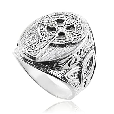 Brand new Amazon.com: Silver Celtic Cross Trinity Knot Ring: Mens Sterling  RS89
