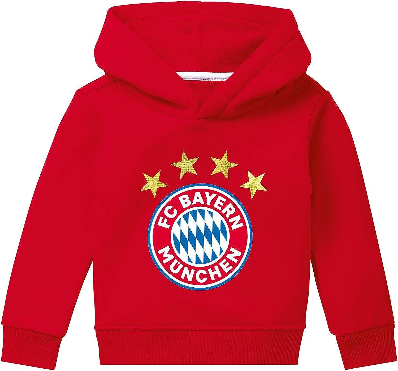 FC Bayern M/ünchen Fleecejacke Logo Kids Kinderjacke mit Kapuze