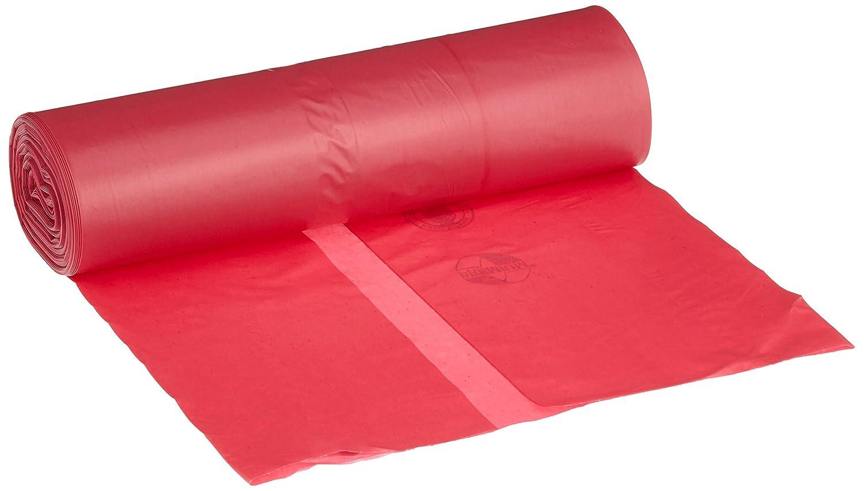 deiss Premium 11705bolsas de residuos, 575mm x 1000mm, tipo 60, 25por rollo, rojo