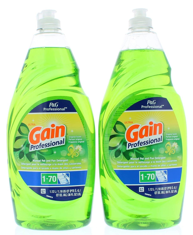 Amazon.com: 2 Pk. Gain Professional Pot and Pan Detergent Original ...