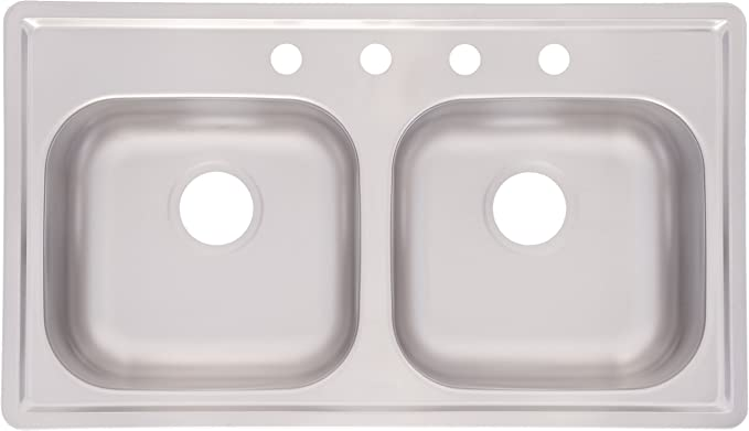 Kindred Fmsb654nb Double Bowl Stainless Steel 33 X 19 Inch Top Mount Sink Double Bowl Amazon Canada