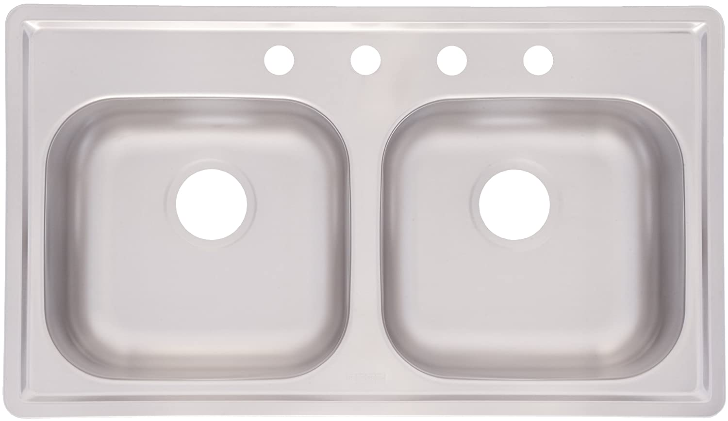 Kitchen Sink Top | Kindred Fmsb654nb Double Bowl Stainless Steel 33 X 19 Inch Top