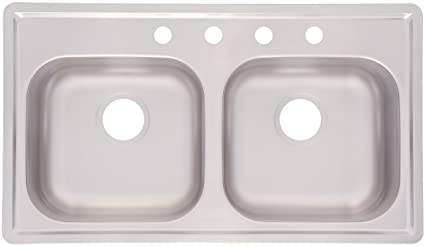 Merveilleux Kindred FMSB654NB Double Bowl Stainless Steel 33 X 19 Inch Top Mount Sink
