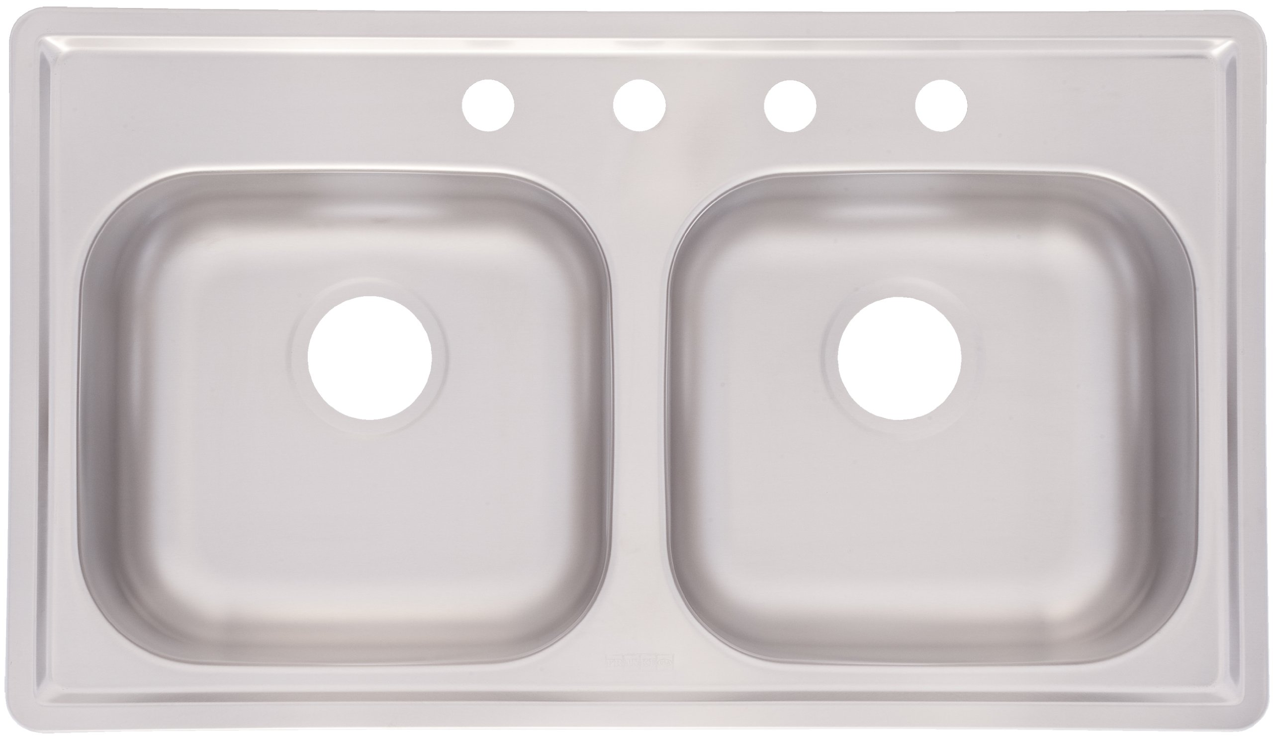 Kindred FMSB654NB Double Bowl Stainless Steel 33 x 19-Inch Top-mount Sink