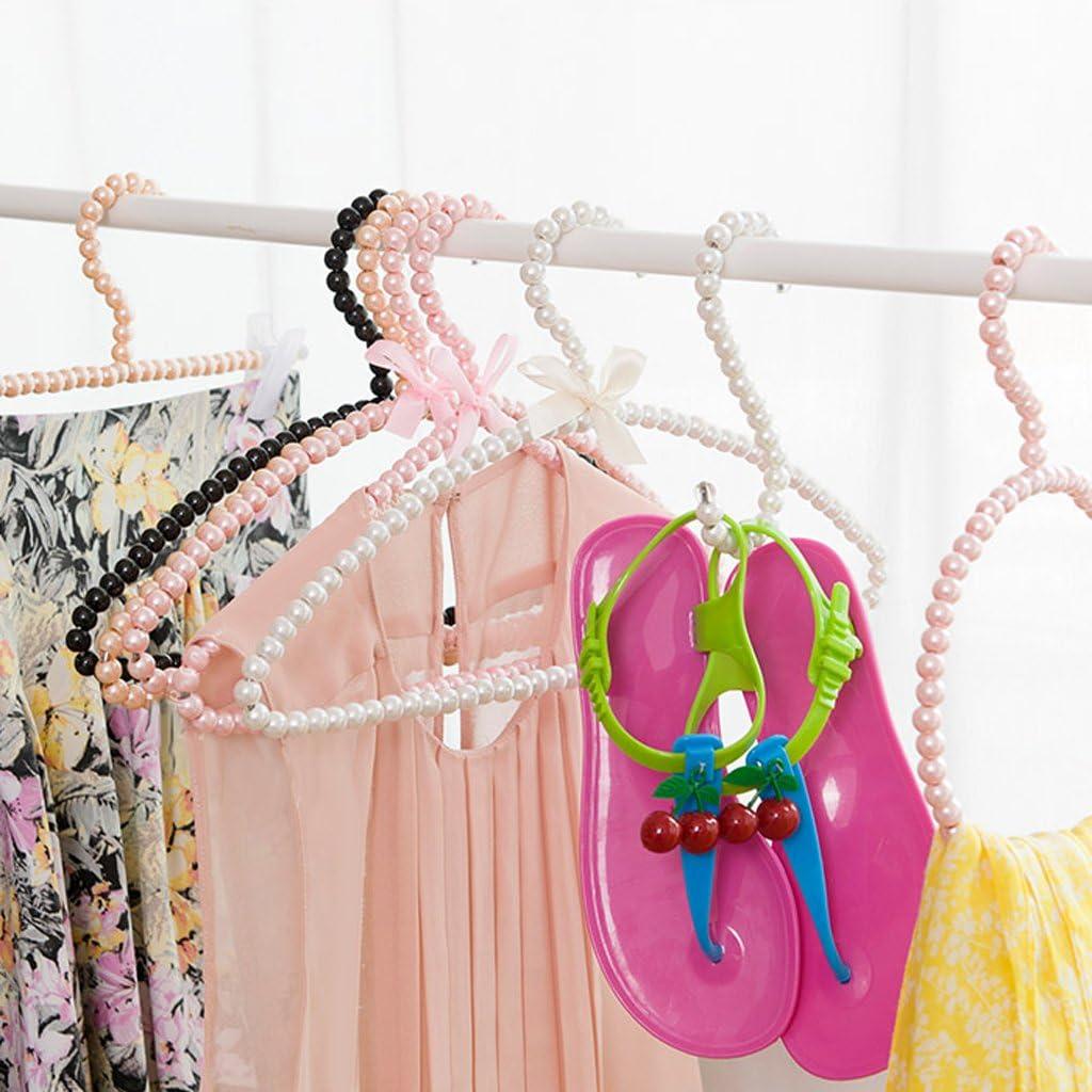 Homyl Perle Kleiderb/ügel 20cm f/ür Kinder und Baby typ1 Rosa 6pcs rosa oder wei/ß Antirutsch