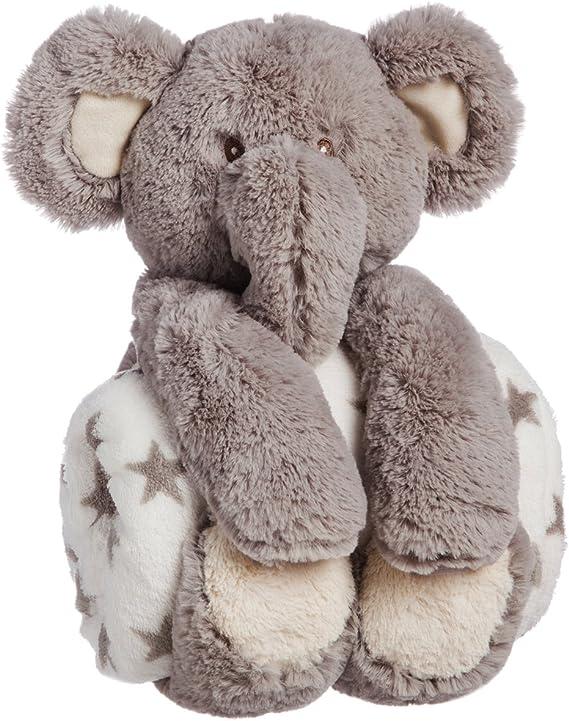 B. Boutique Juego de Regalo de Peluche con Manta de Elefante, 25,4 cm: Amazon.com.mx: Juegos y juguetes