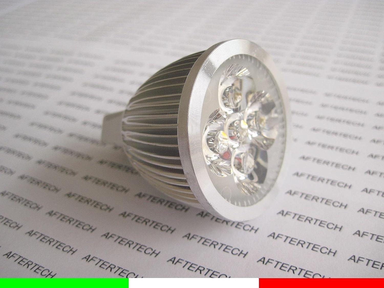 aftertech® aftertech aftertech Bombilla 5X 1W LED 30° MR16blanco frío 5W 12V foco dicróica Spot Aftertech®