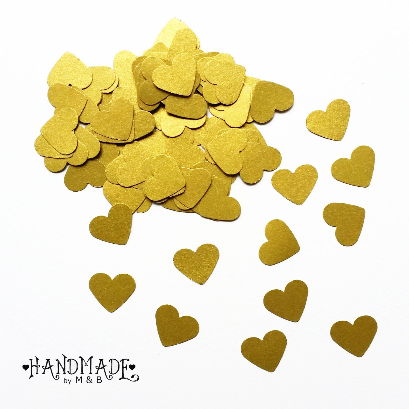 200 Herzkonfetti Konfetti Hochzeit Herz Deko gold silber
