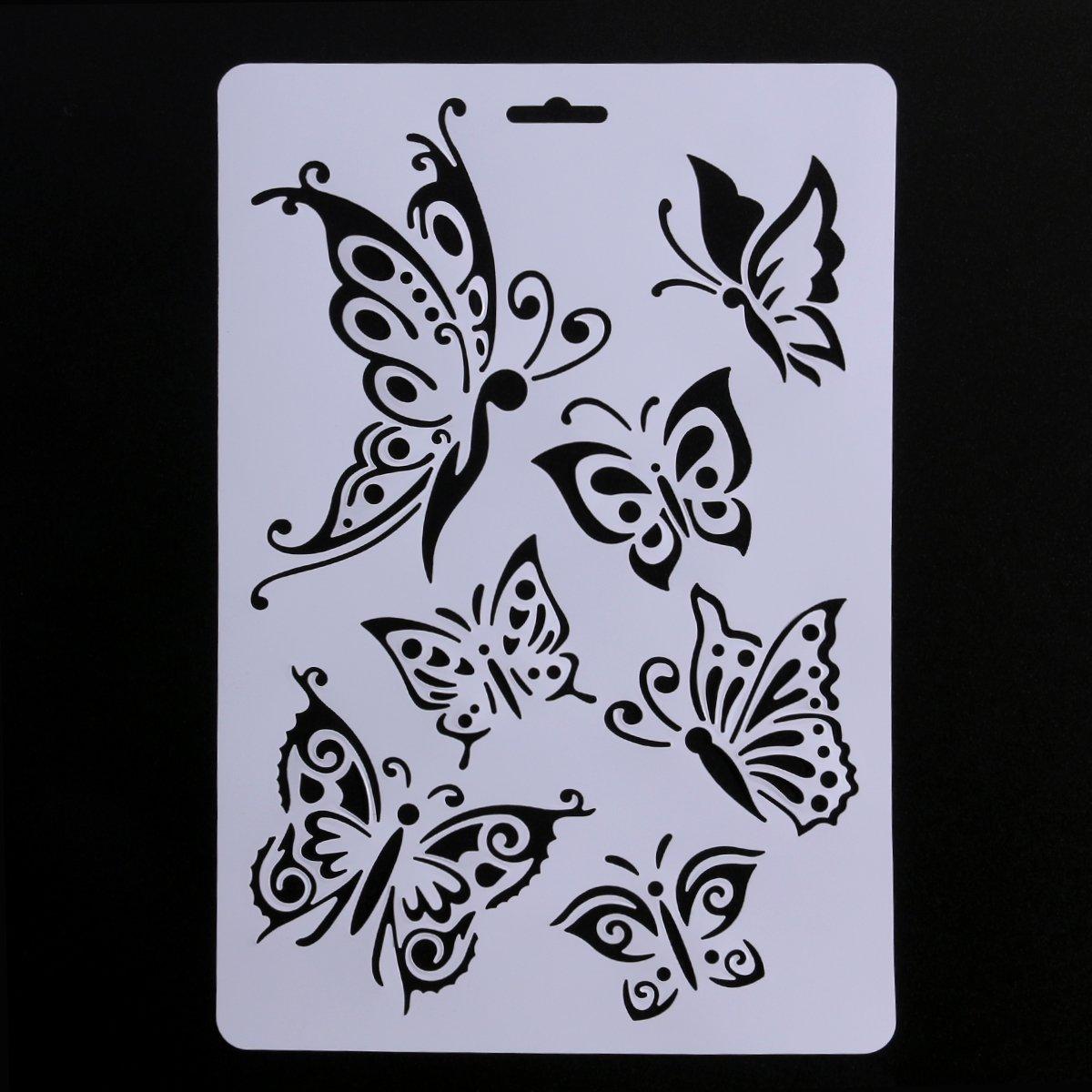Ounona Peinture Pochoirs Plastique Dessin mod/èles Album de scrapbooking DIY Art D/écor 5/pcs