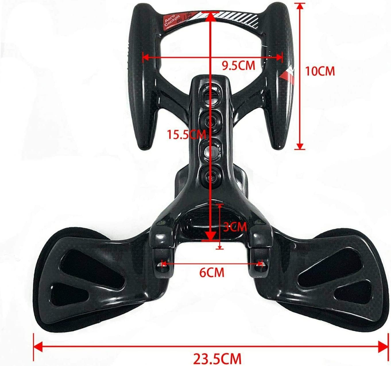 Controltech Triathlon Aero Cockpit Plus Carbon 31.8mm TT Arm Rest Handlebar